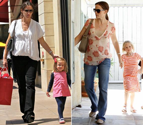 Jennifer Garner mindkét kislánya örökölte a mama szépségét - Violet hatéves, Seraphina pedig három.