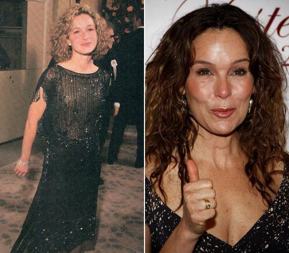 Az egykor természetesen szép színésznőre ma már alig lehet ráismerni.