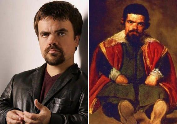 Peter Dinklage a Diego Velazquez festményén szereplő Sebastián de Morra hasonmása.