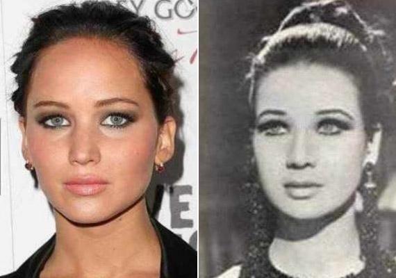 Jennifer Lawrence figyelmét többször felhívták már arra, hogy rettentően hasonlítZubaida Tharwat színésznőre.