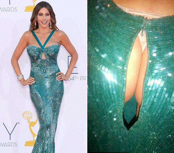 Sofia Vergara ruhája mindössze 20 perccel azelőtt szakadt szét, hogy bejelentették, sorozata megnyerte az Emmy-díjat. Így ő biztos átérzi a fiatal színésznő helyzetét.