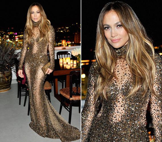 A díjátadó után rendezett buliban is minden szem Jennifer Lopezre szegeződött.