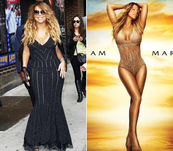 Mariah Carey is egy karcsúbb állapotát szerette volna mutatni a lemezborítóján.