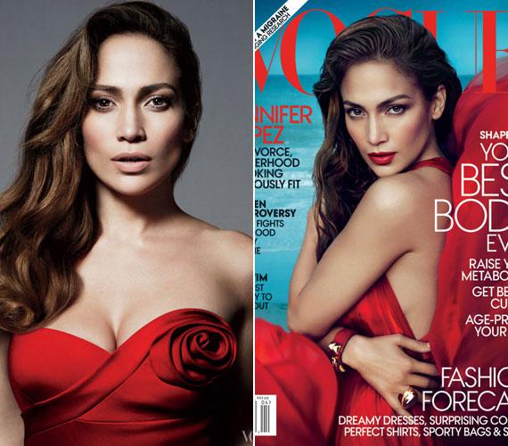 A Vogue címlapján a végzet asszonyát alakította.