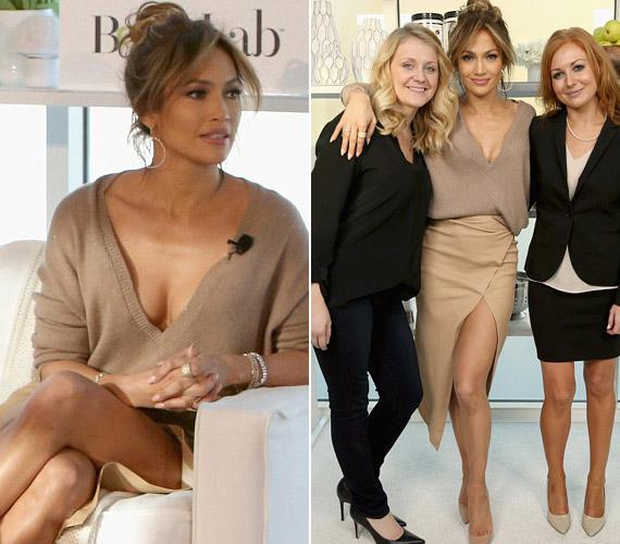 Jennifer Lopez felsője mélyen dekoltált volt, még a műsorvezetők is zavarba jöttek miatta.