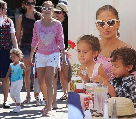 Lopez igyekszik sok időt tölteni az ikrekkel, az American Idol felvételeire és európai utazásaira is magával vitte őket.