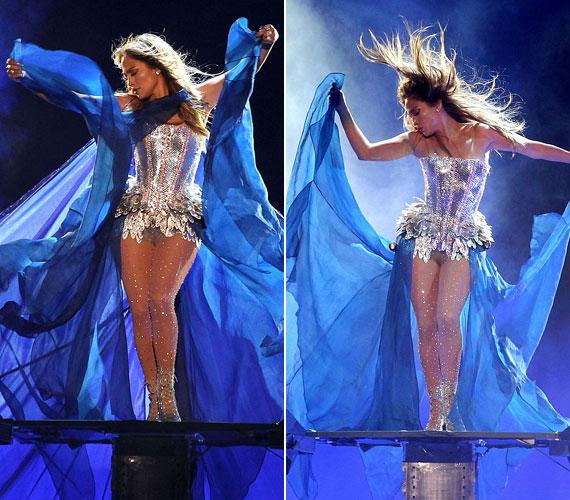 A koncerten kirobbanó sikert aratott látványos előadásával.