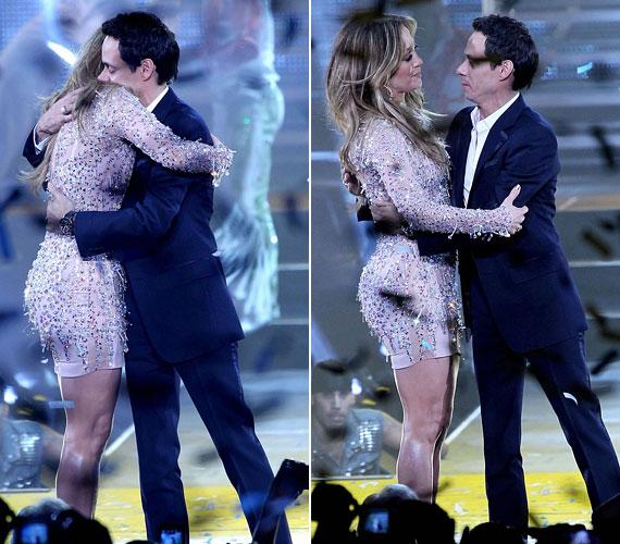 Ugyanaznap volt férjével, Marc Anthonyval ölelkezett a színpadon.