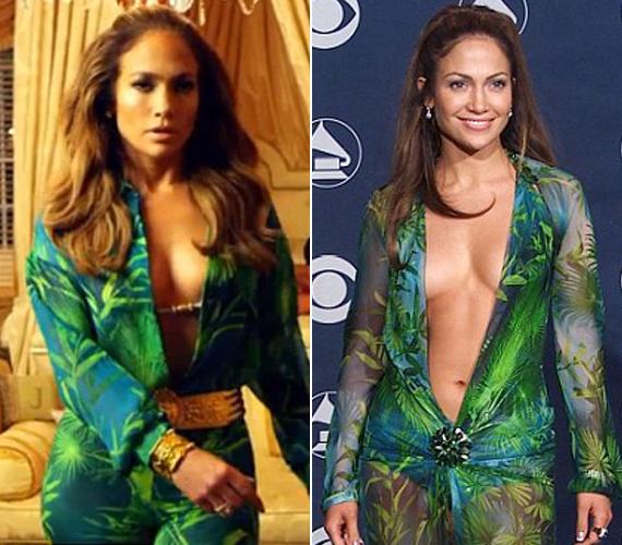2000-ben a Grammy-gálára jelent meg az igen merész ruhában, ami most a videóban is visszaköszön.
