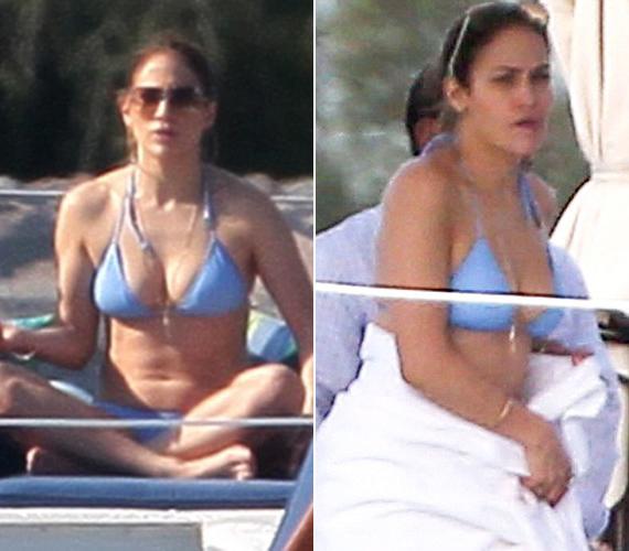 Jennifer Lopez a hét elején egy jachton sütkérezett Miami partjainál.