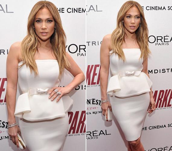 Fehér, peplumos ruhája kiemelte nőies alakját, amikor megjelent a MOMA estjén.