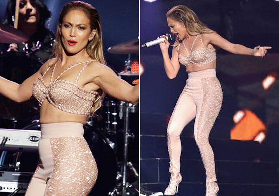 A tavalyi Billboard Latin Music Awards-gálára szintén egy roppant előnytelen ruhát választott, az énekesnő hurkái ugyanis megint kibuggyantak. Egy hosszabb felsővel vagy nagyobb nadrággal viszont könnyen elkerülhette volna a kínos választást.