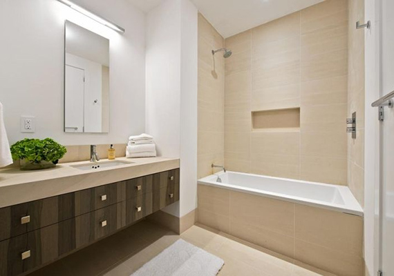 A házban természetesen több fürdőszoba is található, ez közülük az egyik.