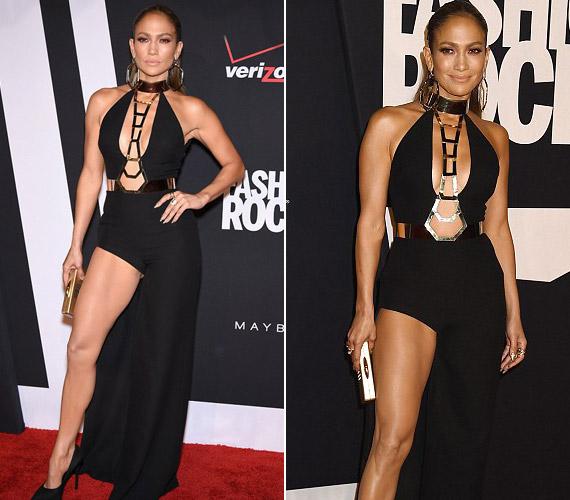 A fantáziának már nem sok teret hagyott Jennifer Lopez ebben a ruhában.
