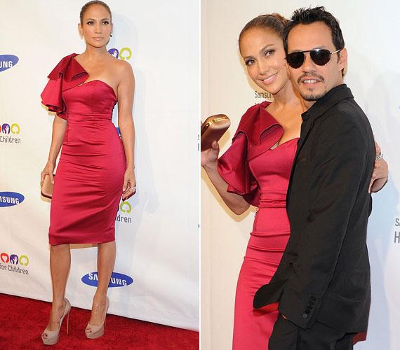 Jennifer nemcsak dísznek kellett a gálára, hanem díjátadóként lépett színpadra, ő és férje prezentálták ugyanis a Bill Clintonnak ítélt Ambassador Awardot.