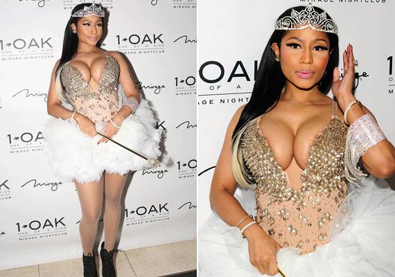 """Nicki Minaj kosztümjéről senki nem tudta eldönteni, hogy pontosan minek öltözött. A kérdésre ennyit válaszolt: """"Nem látjátok, hogy egy kicseszett tündér vagyok?"""""""