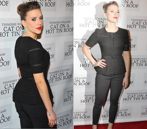 A 30 éves gyönyörű színésznő, Scarlett Johansson Jennifer Lopezhez hasonlóan gömbölyűen nőies idomokkal rendelkezik, amit nemcsak bátran vállal, de szívesen meg is mutat.