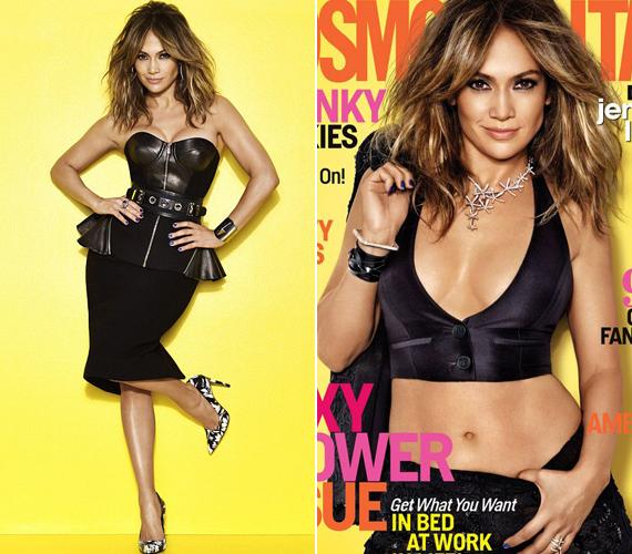 Hasonló felsőjű ruhában már pózolt az egyik magazinnak is.