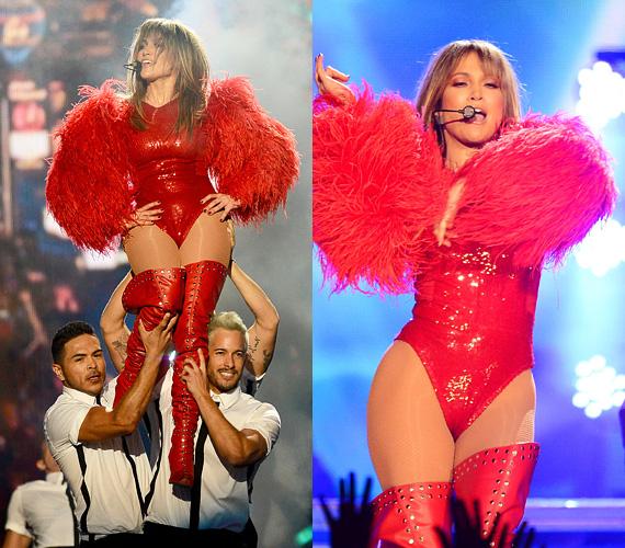 A vörös a szenvedély és erő színe, nem csoda, ha a 44 éves énekesnő is előszeretettel viseli, akár hivatalos eseményen, akár a színpadon.
