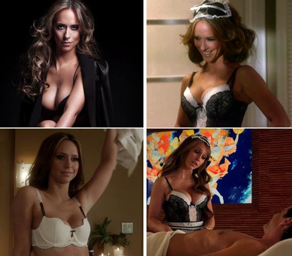 Az Ügyféllista című sorozatában ugyancsak gyakran látható a kebleit kihangsúlyozó, szexi fehérneműben.