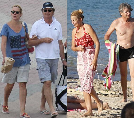 Fél Hollywood a francia tengerparton, St. Tropez-ban nyaral ebben a hónapban, nem csoda, hogy az 55 éves Jerry Hall és párja is itt vakációznak.