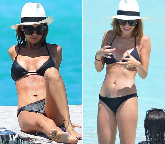Nicole Richie is két gyermek édesanya, de alakján neki sem látszik meg. A fekete bikini viszont úgy fest, egyenruha volt a barátnőknél.