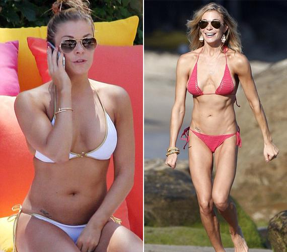 LeAnn Rimes is bátran vetkőzhet, alakja most már neki is irigylésre méltó. A jobb oldali kép még 2011-ben készült az énekesnőről, ám akkor még betegesen sovány képet mutatott, túlzásba vitte ugyanis a testedzést.