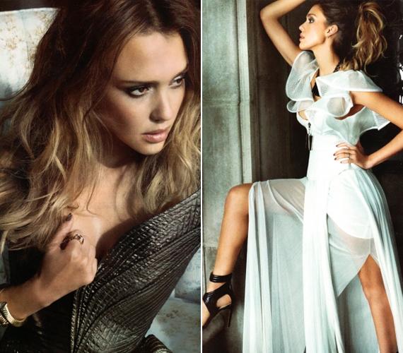 A színésznő nem szokott merész képekhez modellt állni, most csak azért vállalta, mert a Latina magazin kérte rá.