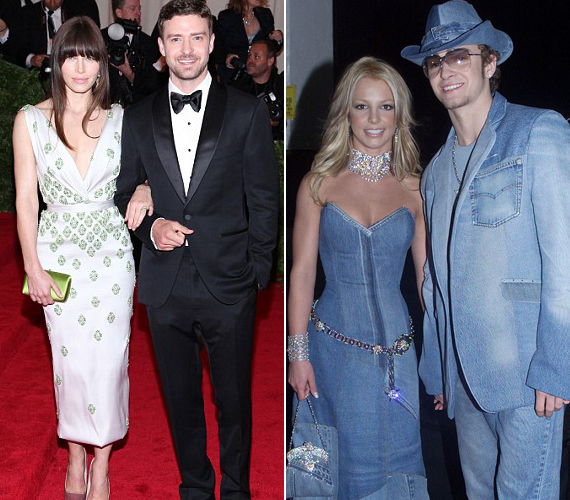 Britney Spears imádott összeöltözni a párjával, Jessica Biel ettől szerencsére eltekint.
