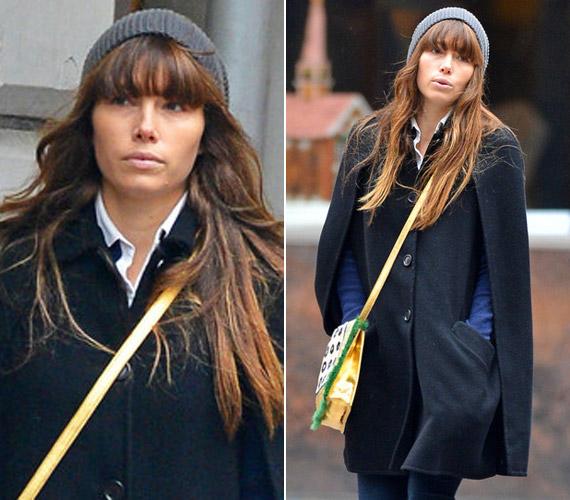 Jessica Biel nem szívbajos, ha arról van szó, simán utcára lép smink nélkül is.