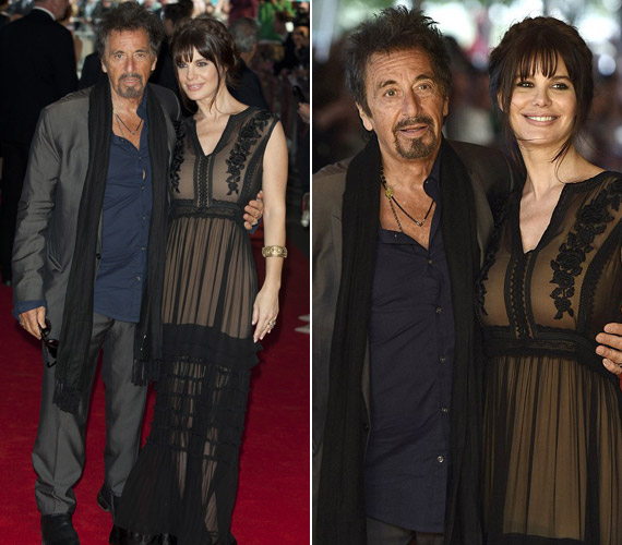 A 74 éves Al Pacino 35 éves barátnőjével,Lucila Solával érkezett.