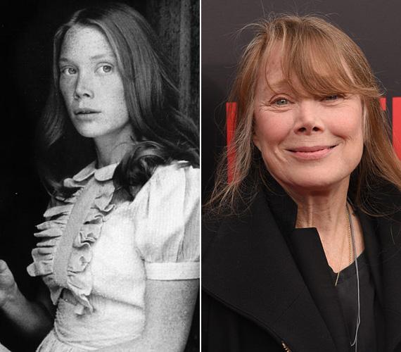 Sissy Spacek szintén 1976-ban lett ismert, bár előtte is forgatott már néhány filmet, ám a Stephen King: Carrie című regénye alapján készült filmadaptáció meghozta számára a sikert. Később is leginkább drámákban és thrillerekben szerepelt, mint a JFK, a Kőkemény Minnesota vagy a Segítség. Legutóbb pedig a Bloodline című 2015-ös sorozatban láthatták a tévénézők. Az Oscar-díjas sztár decemberben tölti be a 66. életévét. 1974 óta házas, két gyermeke van.