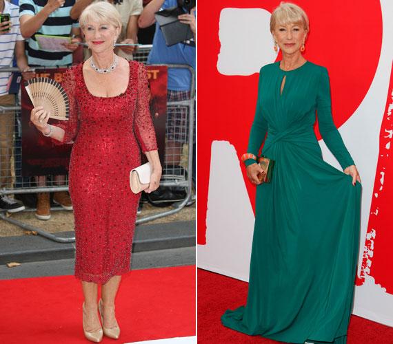 A brit színésznő nem egészen egy hónappal ezelőtt a Red 2 című filmje bemutatóin mutatta meg lenyűgöző alakját a páratlan estélyi ruhákban.