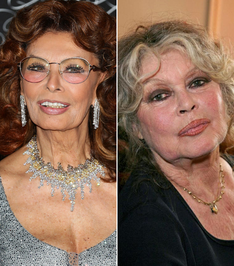 Sophia Loren és Brigitte Bardot                         A két nagy szexszimbólum nem is lehetne különbözőbb, pedig egykorúak. Az olaszok dívája, Sophia Loren nem tagadja, hogy túl a 79. életévén is szereti a plasztikai sebészek segítségét kérni.                         Kapcsolódó cikk:                         Ez már túlzás! Merészen dekoltált ruhában mutogatta bájait a díva