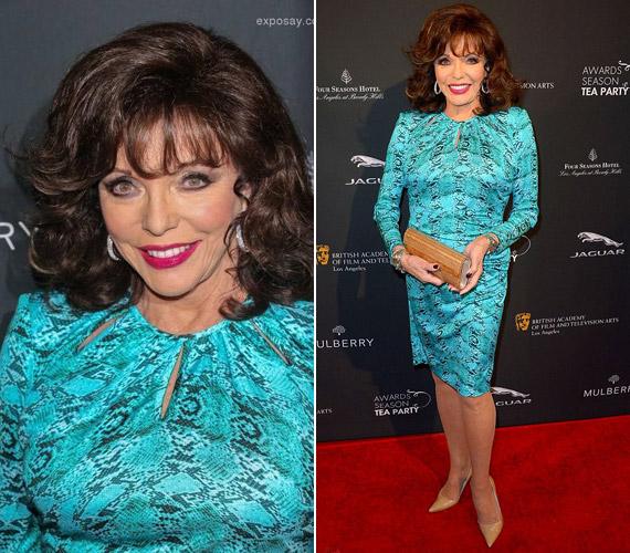 Január elején a BAFTA Los Angeles Awards Season Tea Partyn nem lehetett nem észrevenni ebben a harsány, türkiz ruhában.