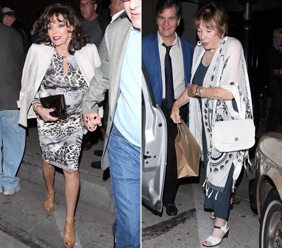 Múlt héten egy barátnőjével, a legendás színésznővel, Shirley MacLaine-nel vacsorázott. Hihetetlen, de Joan Collins egy évvel idősebb kolléganőjénél.