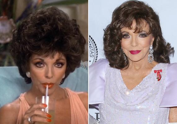 Habár csaknem 30 év eltelt a sorozat forgatása óta, a színésznő alig változott valamit. Sohasem tagadta, hogy szépségét a plasztikai műtéteknek köszönheti, de tény, hogy el sem hisszük róla, hogy 82 éves.