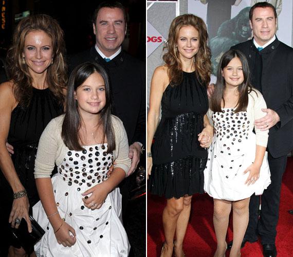 Apja Vén csontok című vígjátékának bemutatóján 2009 novemberében - jól látható, hogy a kislány szép arcával édesanyjára ütött.