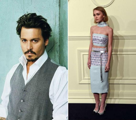 Lily-Rose Depp már most szívesen mutogatja extrém hosszú lábait, amire hamarosan nők milliói fognak irigykedve nézni. A jobb oldali képen a Chanel partyn viselt levendula lila és babakék ruhájában láthatod.