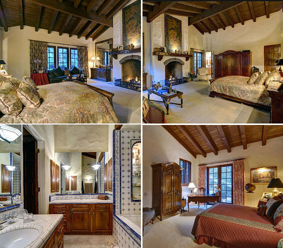 A New York Daily News azt írja, a villában öt hálószoba kapott helyet, köztük kisebbek és nagyobbak - természetesen pazar fürdőszobával. A nagyobbakban bőven elfért a kandalló is.