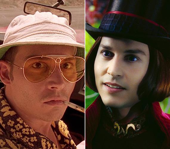 Az 1998-as Félelem és reszketés Las Vegasban című filmdrámában egy eszement sportriportert alakít, akit teljesen magába szippant a kábítószer és az alkohol világa. Más értelemben volt őrült a 2005-ös Charlie és a csokigyárban, Willy Wonka megformálásáért Golden Globe-ra jelölték.