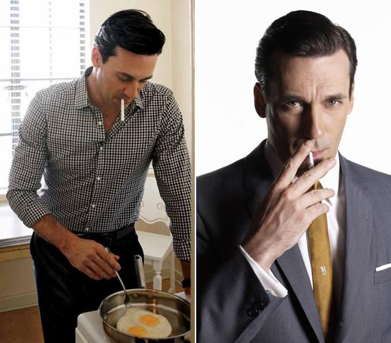 A cigarettát még a tükörtojásos reggeli készítése közben sem tudja letenni.