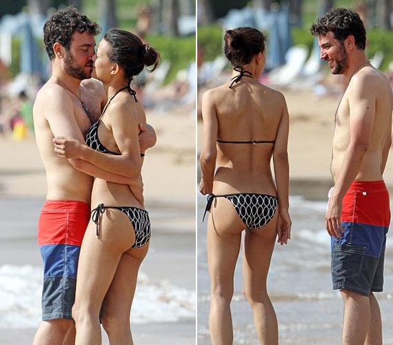 A szerelmes pillantások, az ölelések és a csókok mind azt mutatták, hogy a sorozatsztár rajong barátnőjéért.
