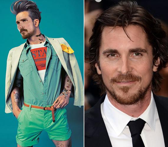 Christian Bale egyik legismertebb szerepe a Christopher Nolan-féle Batman, éppen ezért a hipsztermása is ilyen tetoválást kapott.