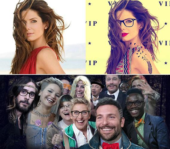 Sandra Bullock sem maradhatott ki a hipszteráradatból, ahogyan az idei Oscar-gála elhíresült selfie-jét is átalakították.