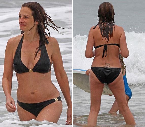 Egy tavasszal készült fotón: csinos, fekete bikiniben fürdőzött a tengerben.