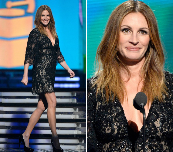 A 46 éves színésznő a sminket sem vitte túlzásba.