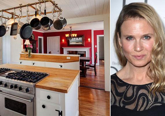 Renée Zellweger connecticuti farmházának konyhája remekül illeszkedik a hely stílusához, hangulatához.
