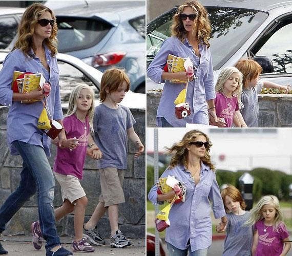 Hazel és a Finnek becézett Phinnaeus színésznő anyjuk termetét örökölték: jóval magasabbak, mint kortársaik.