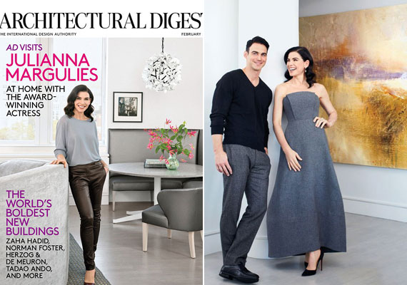 Julianna Margulies 2007-ben ment feleségül Keith Lieberthal ügyvédhez, vele és kisfiukkal lakja be a Manhattan divatos SoHo negyedében található, kétszáz négyzetméteres lakást.